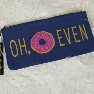 """Funny Doughnut Zip Pouch  """"OH, DONUT EVEN"""""""